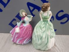 2 ROYAL DOULTON FIGURES INCLUDING KELLY AND AUTUMN BREEZE