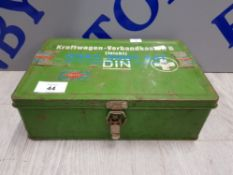 GERMAN FIRST AID METAL BOX WITH CONTENT