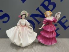 2 ROYAL DOULTON FIGURES INCLUDING SUNDAY BEST AND FIGURE OF THE YEAR 1994 JENNIFER