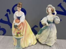2 ROYAL DOULTON FIGURES INCLUDING GRAND MANNER AND ALEXANDRA