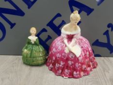 2 ROYAL DOULTON FIGURES INCLUDING BELLE AND VICTORIA