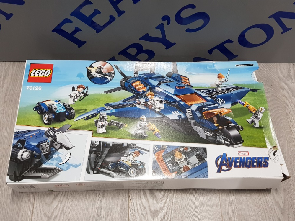 LEGO MARVEL AVENGERS ULTIMATE QUINJET 76126 USED - Image 2 of 3