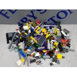 1 KG COLLECTION OF LEGO AND MEGA BLOCKS BUILDING CONSTRUCTION SET