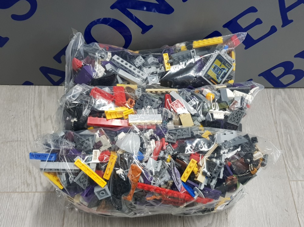 3 KG LARGE COLLECTIONS OF LEGO AND MEGA BLOCKS BUILDING CONSTRUCTION SETS - Image 2 of 3