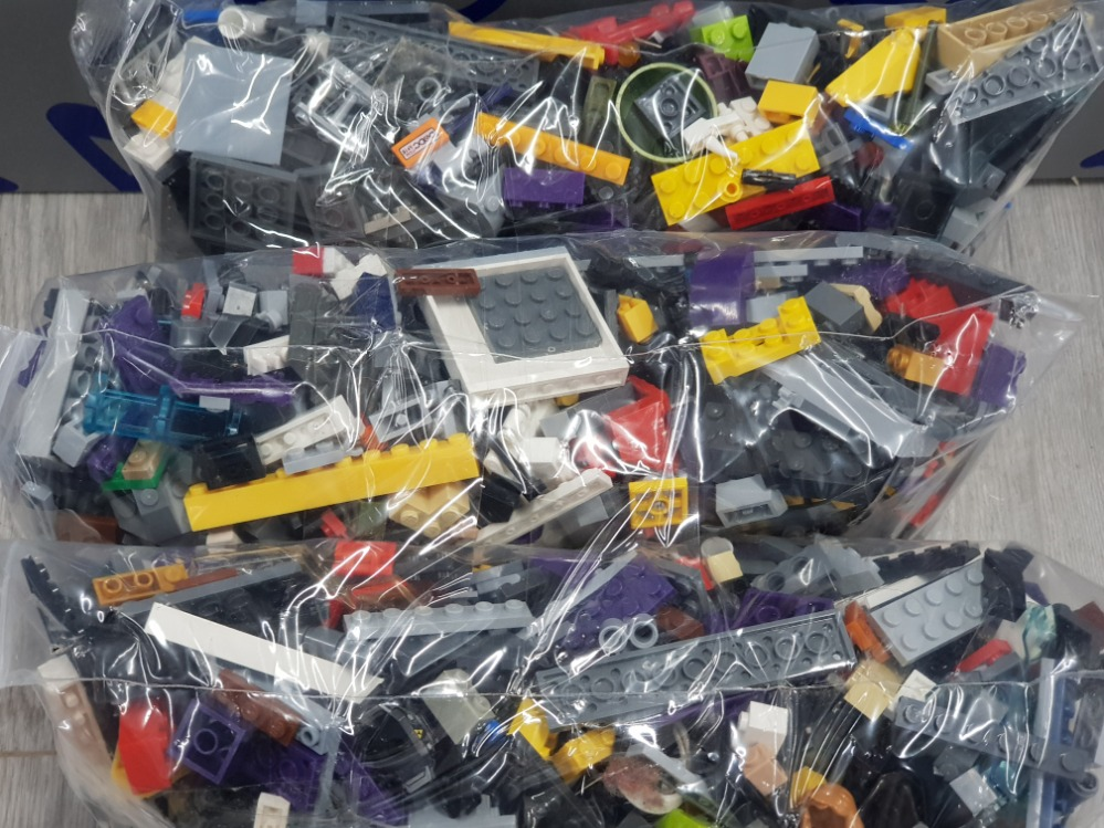 3 KG LARGE COLLECTIONS OF LEGO AND MEGA BLOCKS BUILDING CONSTRUCTION BLOCKS - Image 3 of 3