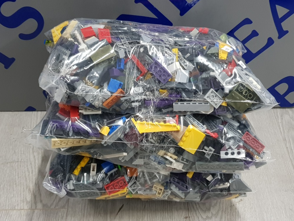 3 KG LARGE COLLECTIONS OF LEGO AND MEGA BLOCKS BUILDING CONSTRUCTION SETS