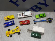 COLLECTION OF VINTAGE DIE CAST VEHICLES INCLUDING CORGI, MATCHBOX AND HOT WHEELS ETC