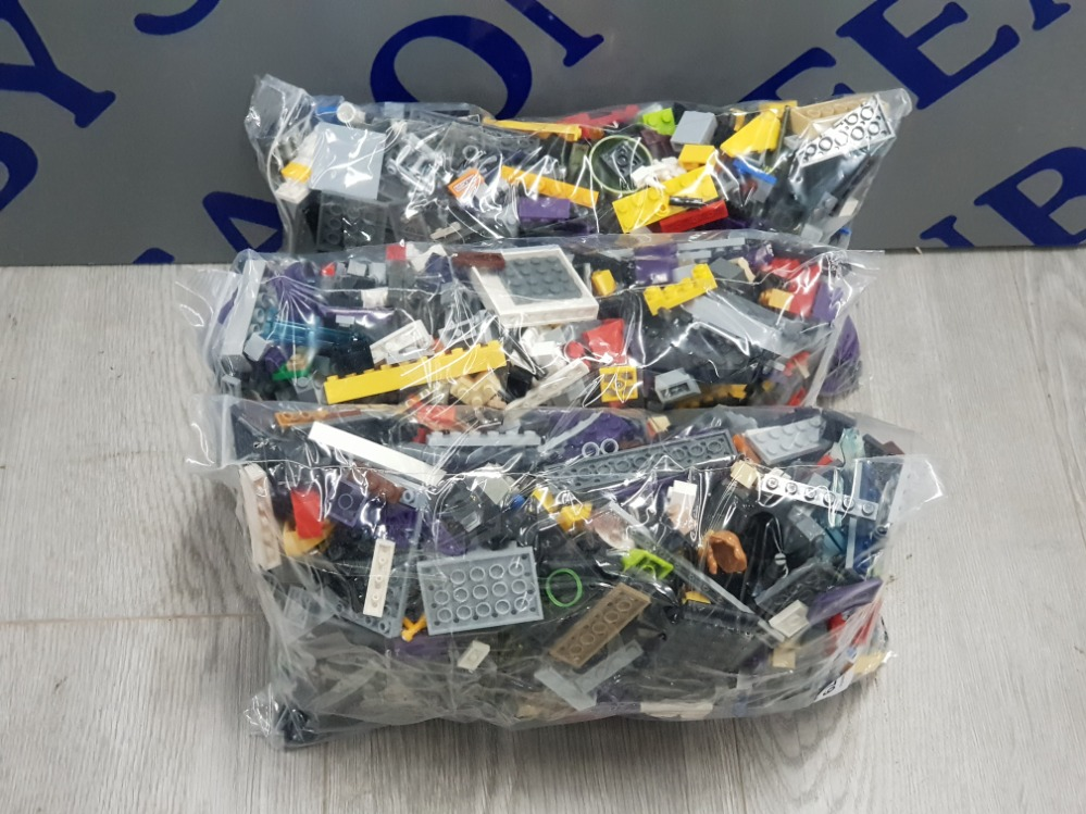 3 KG LARGE COLLECTIONS OF LEGO AND MEGA BLOCKS BUILDING CONSTRUCTION BLOCKS - Image 2 of 3