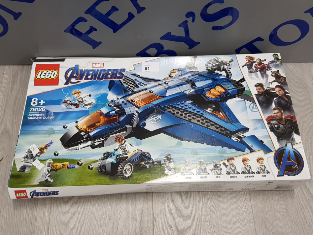 LEGO MARVEL AVENGERS ULTIMATE QUINJET 76126 USED