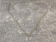 Silver snake link necklet by Pandora 26.7g