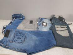 5 pairs of jeans includes Calvin Klein firetrap voi jeans etc