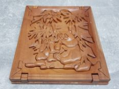 Panda hardwood jigsaw stands as display when not in use