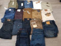 17 pairs of Jean's includes Tommy Hilfiger henry lloyd Jack Jones etc