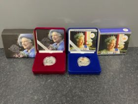 Royal mint Queen Elizabeth II 2002 golden jubilee crown proof silver coin in original box with COA