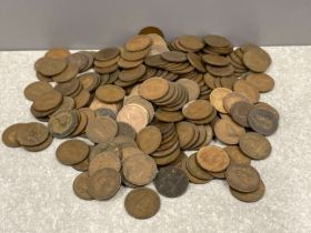Coins old farthings approx 200
