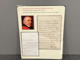British statesman William Gladstone letter dated 25th December 1865 written in his hand and signed