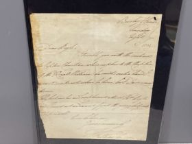 Royalty 1804 letter written by William IV (king from 1830-1837)