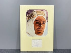 Autograph Peter O'tool actor signed autograph and photo of him from the film Lawrence of Arabia