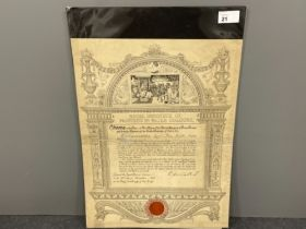 Royalty 1884 printed document appointment of Lionel Percy Smythe esquire to be a member of the royal