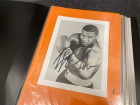 Autographs sport album includes Henry cooper, John Conteh, Frank Bruno and others