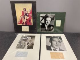 Autographs Charles coburn American actor signature mounted up with image of him with Marilyn