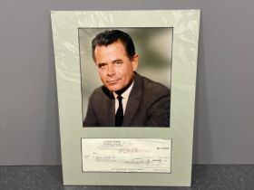 Autograph Glen Ford 1916-2006 prominent actor during Hollywood golden age signed cheque
