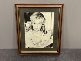 Autograph Hayley Mills English actress signed photograph framed