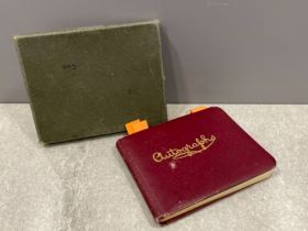 Autographs small autograph book containing a few signatures noted Vera Lynn, frank sinatra jnr,