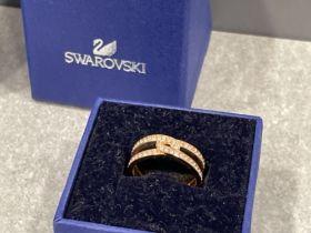 Swarovski ring (as new) size k1/2