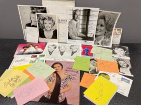 Autographs popular music signed Dolly Parton, The Beverley sisters, Elaine page and many more (35)