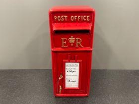 Red cast post box 56cm x 34cm x 24cms