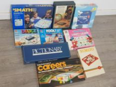 9 vintage boxed boardgames includes walt Disney light and learn, Dream on and Numero