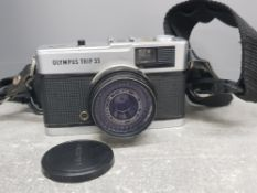 Olympus Trip 35 point and shoot compact film camera, 40mm lens
