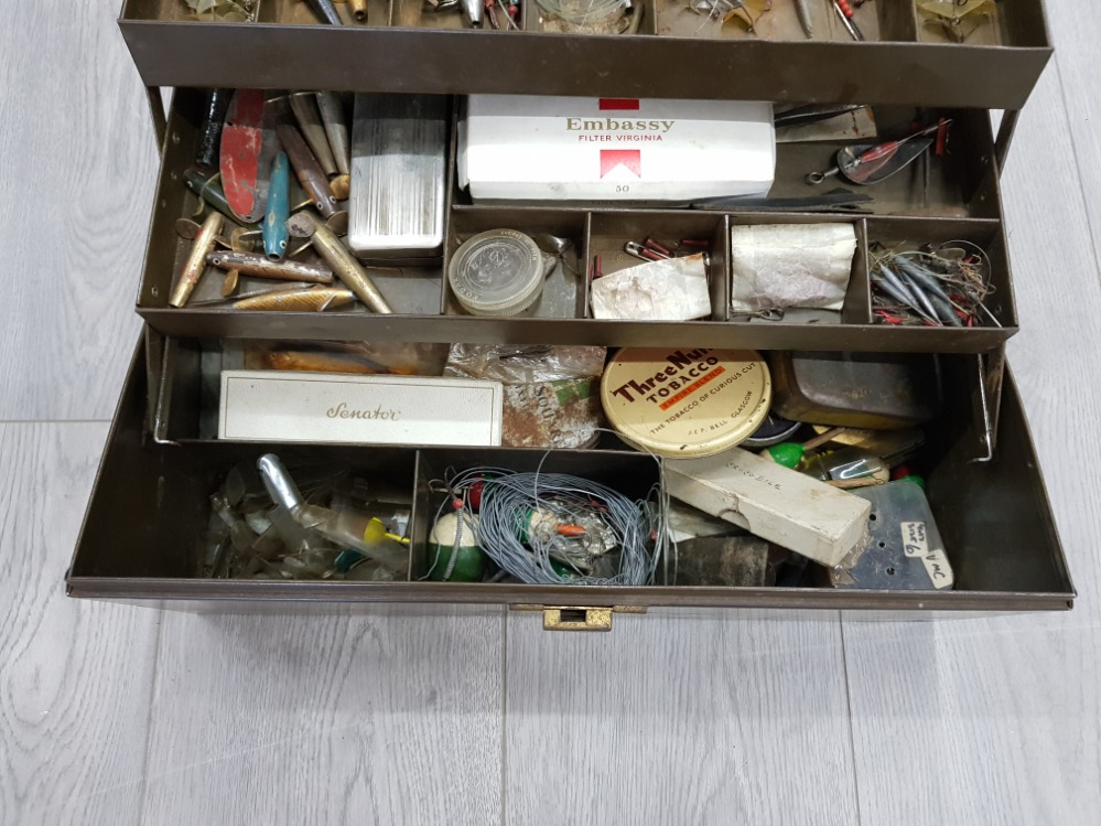 Fishing tackle box with contents. - Image 4 of 4