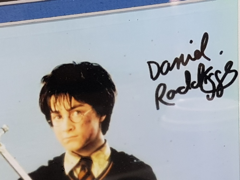 Harry Potter and the chamber of secrets 2002 Daniel Radcliffe signed movie memorabilia and Back to - Image 2 of 3