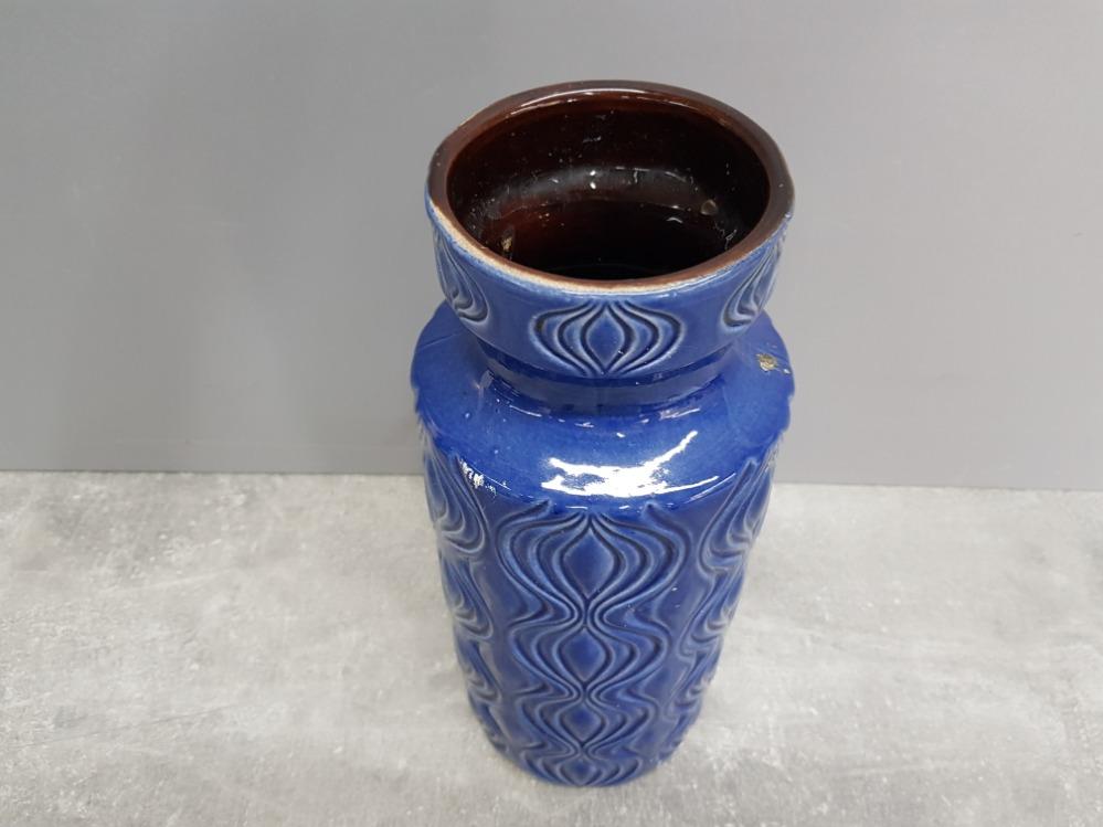 Blue glazed West Germany vase no 285-30 31cm high. - Image 2 of 3