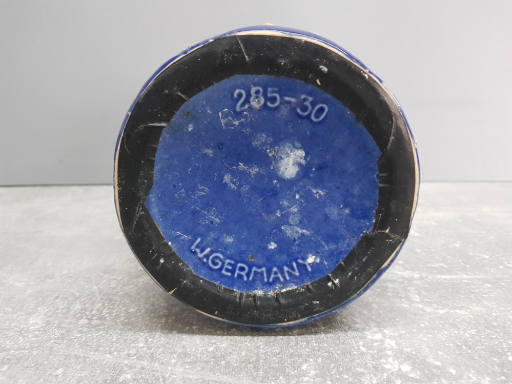 Blue glazed West Germany vase no 285-30 31cm high. - Image 3 of 3