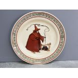 Rare vintage Royal Doulton plate, Witch and cauldron