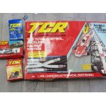 TCR super 4 twin circuit set with original box and extra cars