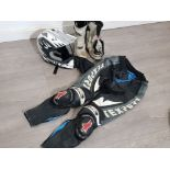 Wolf motorbike helmet together with euro size 41 boots, 52 pants etc