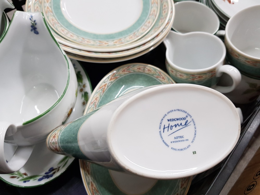 Dinner and teaware to include Wedgwood 'Aztec', Denby, Royal Worcester etc in two boxes. - Image 2 of 5