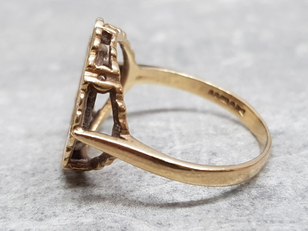 A 9ct yellow gold coin ring, 3.5g, size P. - Image 2 of 4