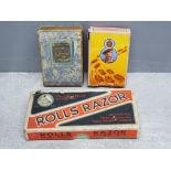 WW2 Monty desert campaign playing cards, Royal scot Greys card and WW2 rolls razor all in original