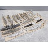 Total of 17 Matchlock minatures naval warships