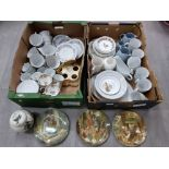 Royal Doulton four seasons plates and saucers, Wedgwood wind in the willows collectors plates, other
