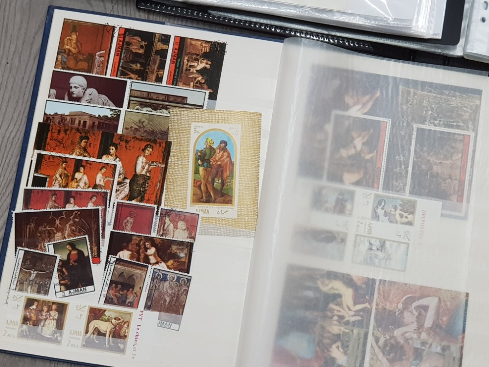 7 stamp albums containing a selection of miscellaneous postage stamps and first day covers - Image 2 of 3