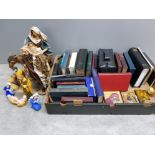 Box containing a large Quantity of Holy Bibles, Religious Nativity figures and Plaques