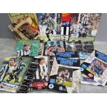 Selection of Newcastle United football programmes from the 90s, one signed Alan Shearer etc