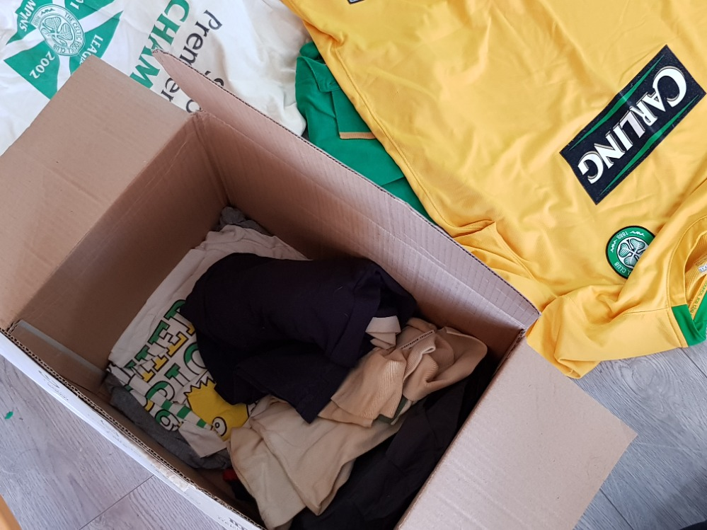 Box of mixed clothing mainly football tops, Celtic and Scotland - Image 3 of 3