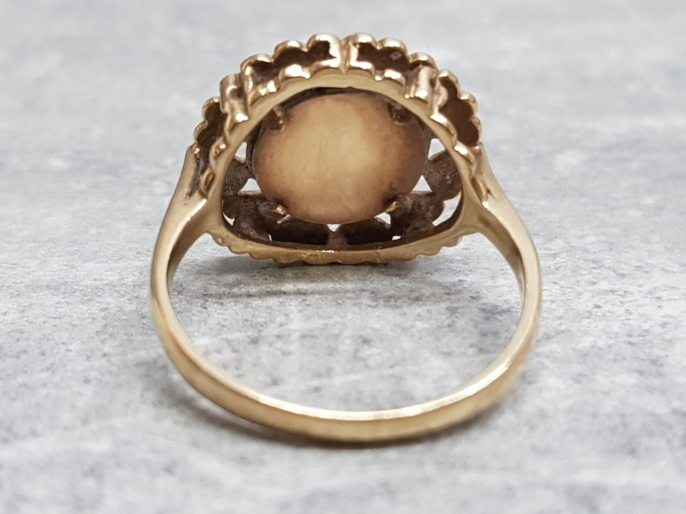 A 9ct yellow gold coin ring, 3.5g, size P. - Image 3 of 4